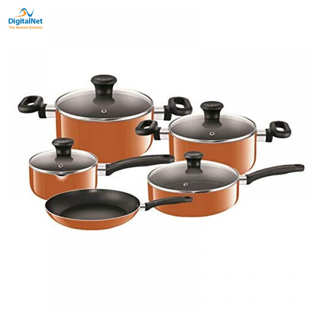 TEFAL COOKWARE PRIMA 9PCS ORANGE