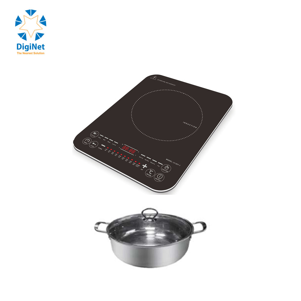 CHUFENG INDUCTION COOKER LY-221  2000W TOUCH +SOUP POT 960G