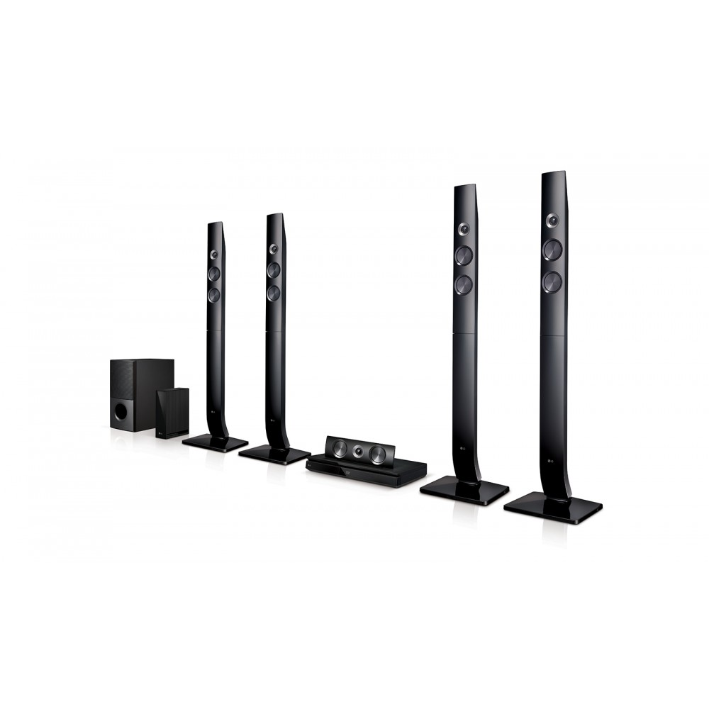 LG HOME THEATER LHD 756W 1200W 5.1CH DVD WIFI BLACK