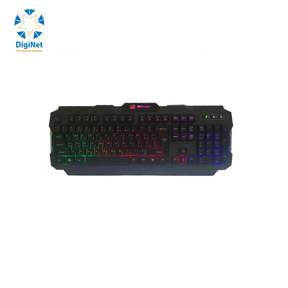MERCURY GAMING KEYBOARD MK58 USB BLACK