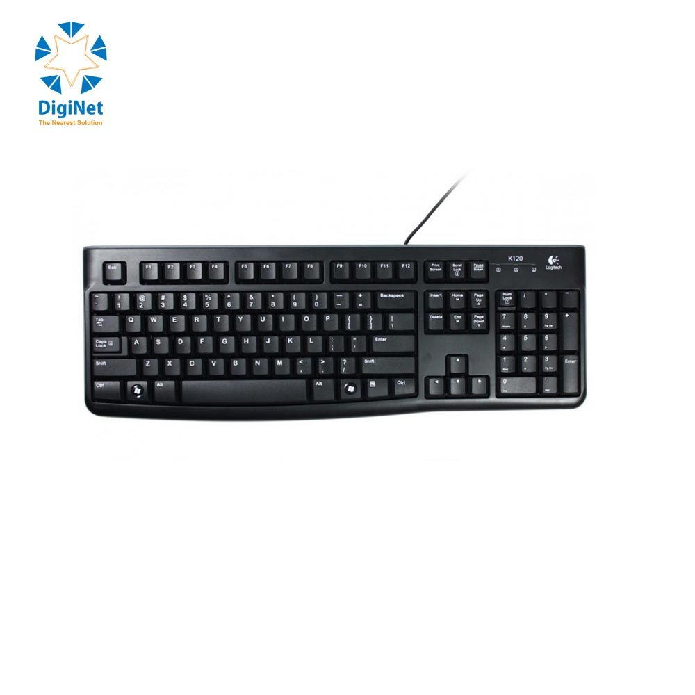 LOGITECH WIRED KEYBOARD K120 USB BLACK