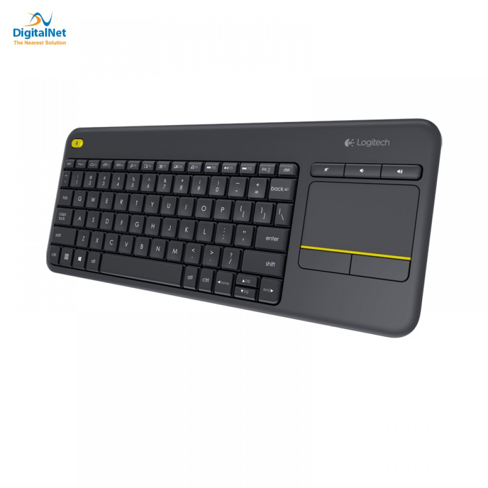 LOGITECH WIRELESS TOUCH KEYBOARD K400R BLACK