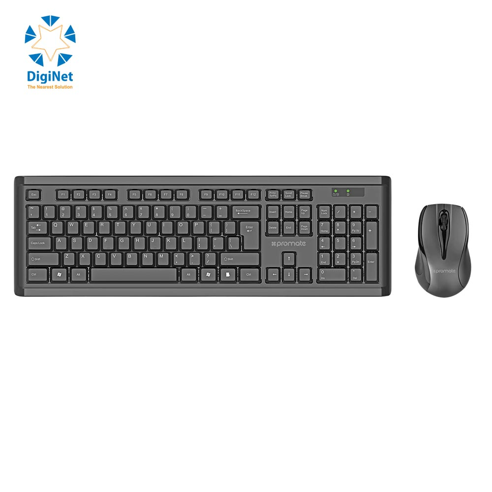 PROMATE WIRELESS KEYBOARD & MOUSE PROCOMBO-3 BLACK