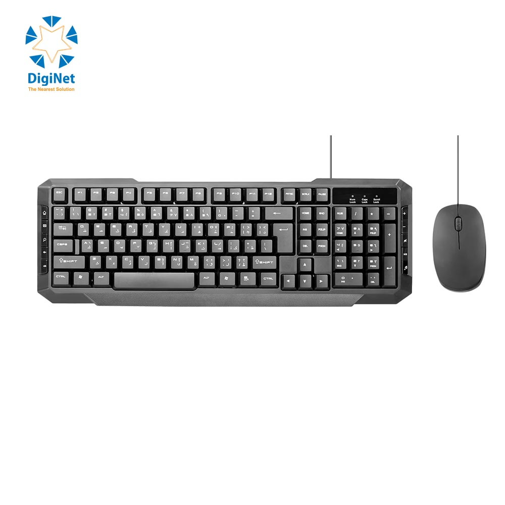 PROMATE WIRED KEYBOARD & MOUSE EASYKEY-3 USB BLACK