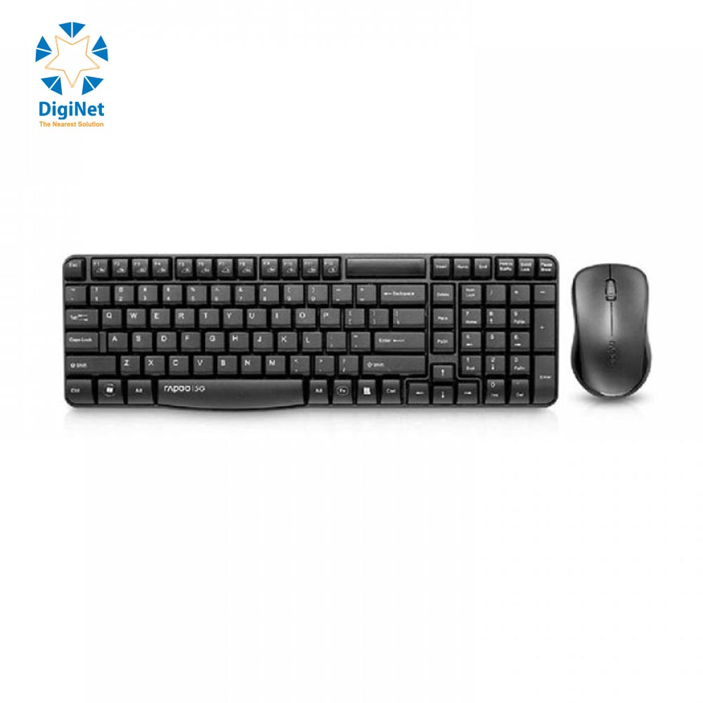 RAPOO COMBO WIRELESS (KB+MSE) X1800S BLACK