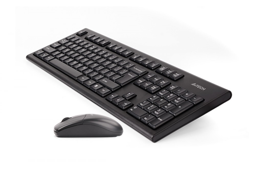 A4 TECH WIRELESS KEYBOARD WITH MOUSE 3100N COMBO BLACK