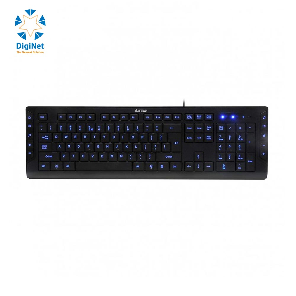 A4 TECH WIRED BACKLIGHT KEYBOARD KD-600L USB BLACK