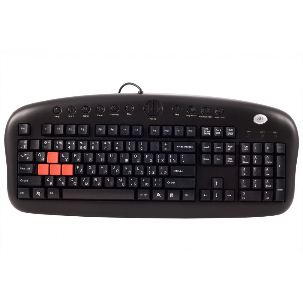 A4 TECH WIRED KEYBOARD KB-28G GAME MASTER USB BLACK
