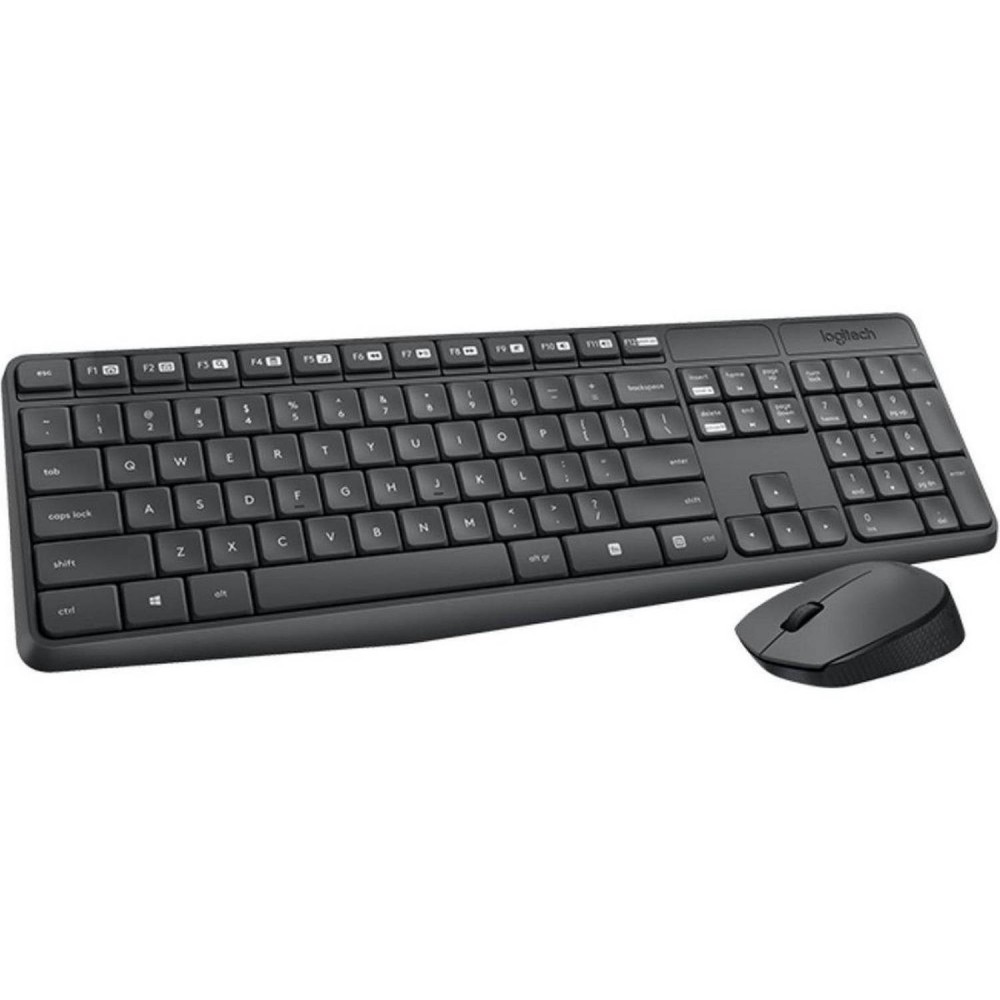 LOGITECH WIRELESS KEYBOARD WITH MOUSE MK235 COMBO BLACK