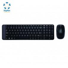 لوجيتك لوحة مفاتيح لاسلكية مع فأرة MK220 USB أسود