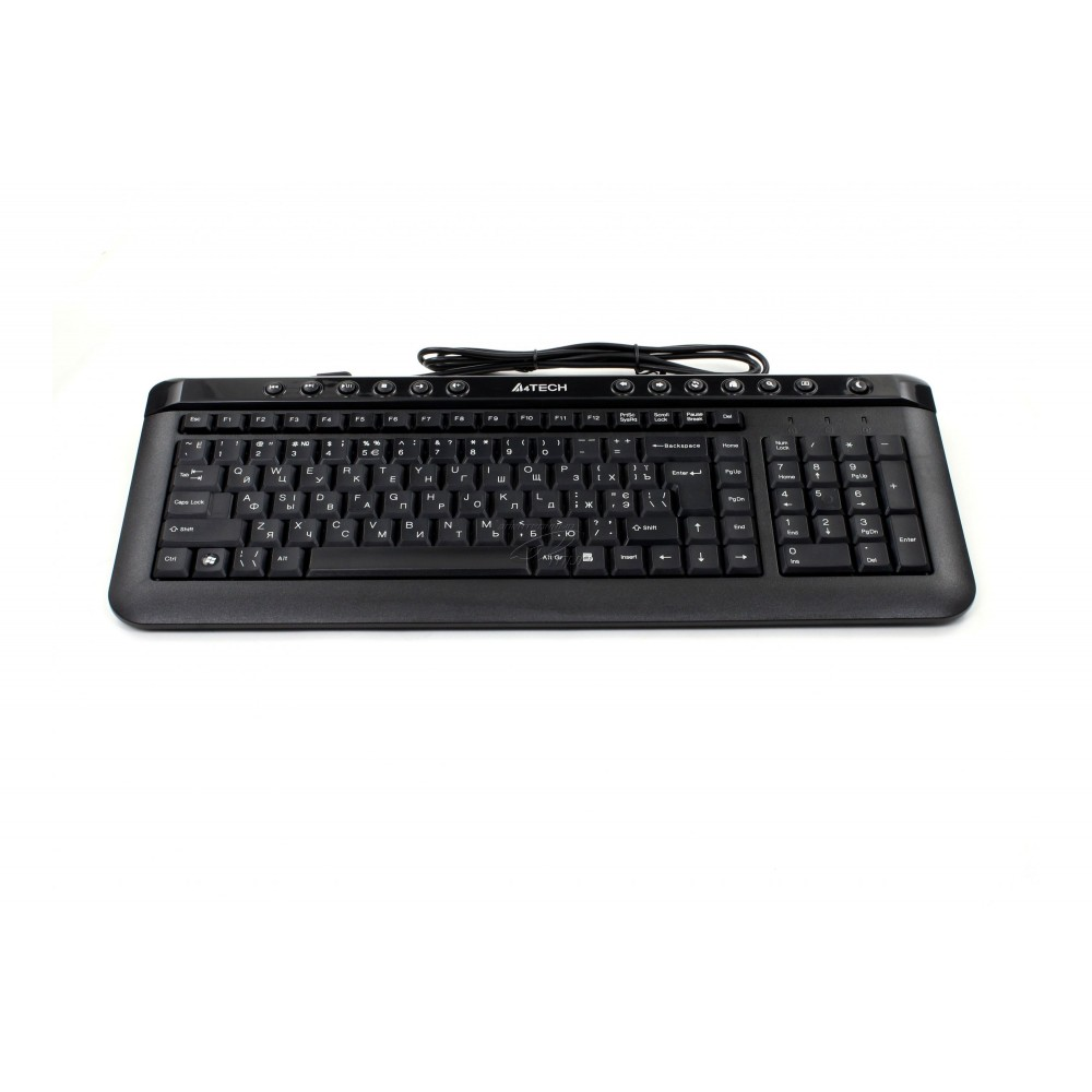 A4 TECH WIRED KEYBOARD KLS-40 SLIM USB BLACK