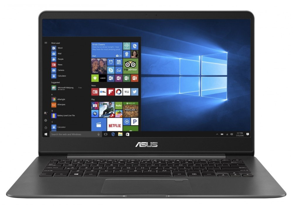 "ASUS LAPTOP ZENBOOK UX430UN I7 8550U 8GB 512GB 2D VGA 14"" WIN 10 WITH BAG GRAY"