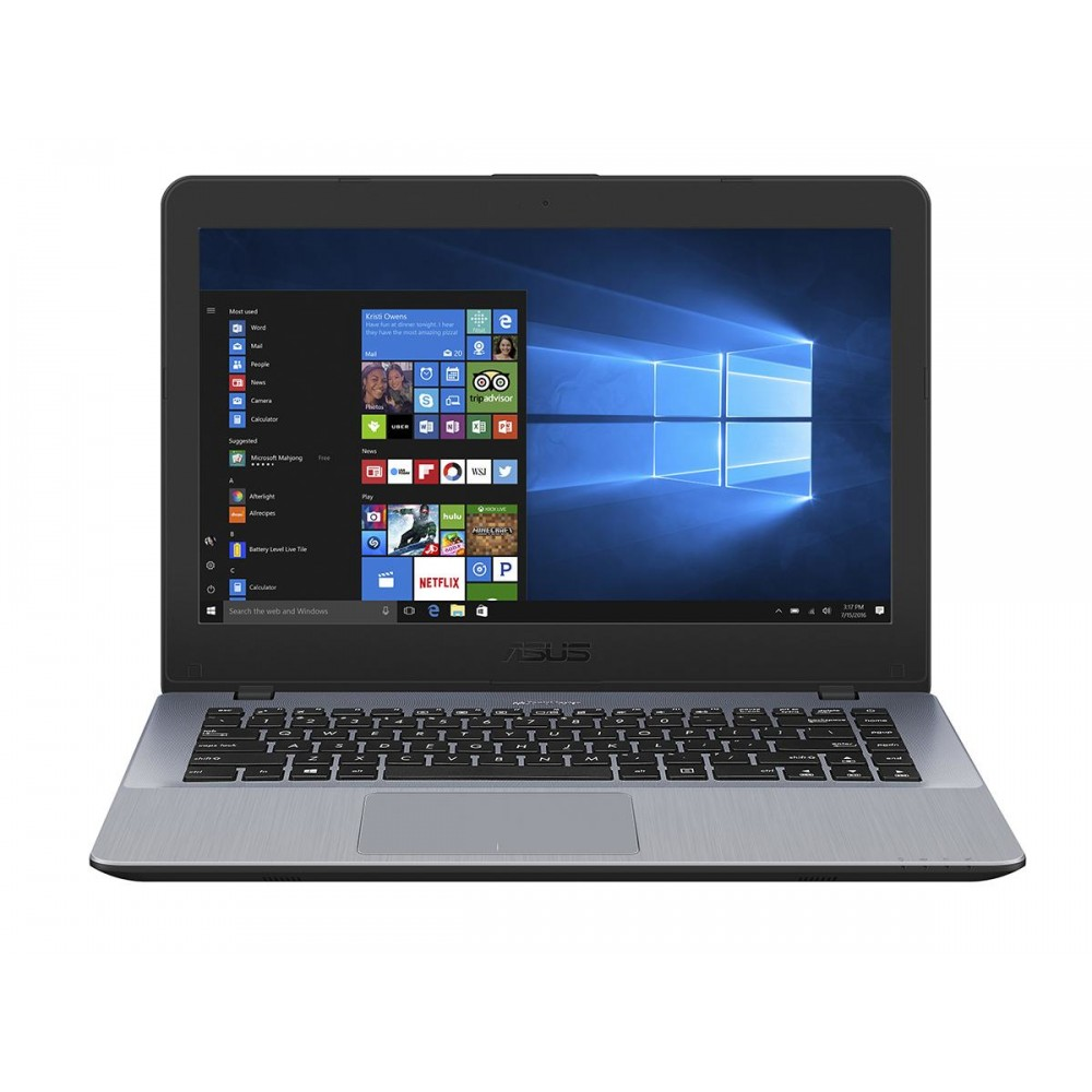 "ASUS LAPTOP VIVOBOOK 14 X442UA I3-7100 4GB 1TB 14"" GRAY WITH MOUSE"