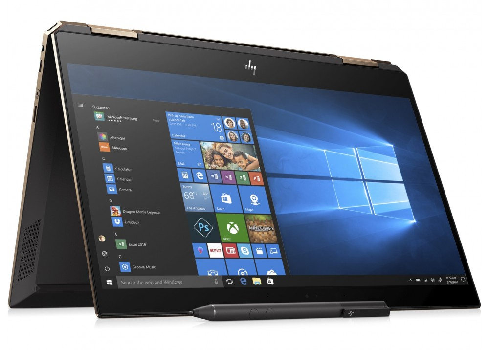 """HP LAPTOP SPECTRE X360 I7-8565U 16GB 512GB SSD 13.3"""" FHD TOUCH WIN 10 GRAY WITH PEN & BAG"""