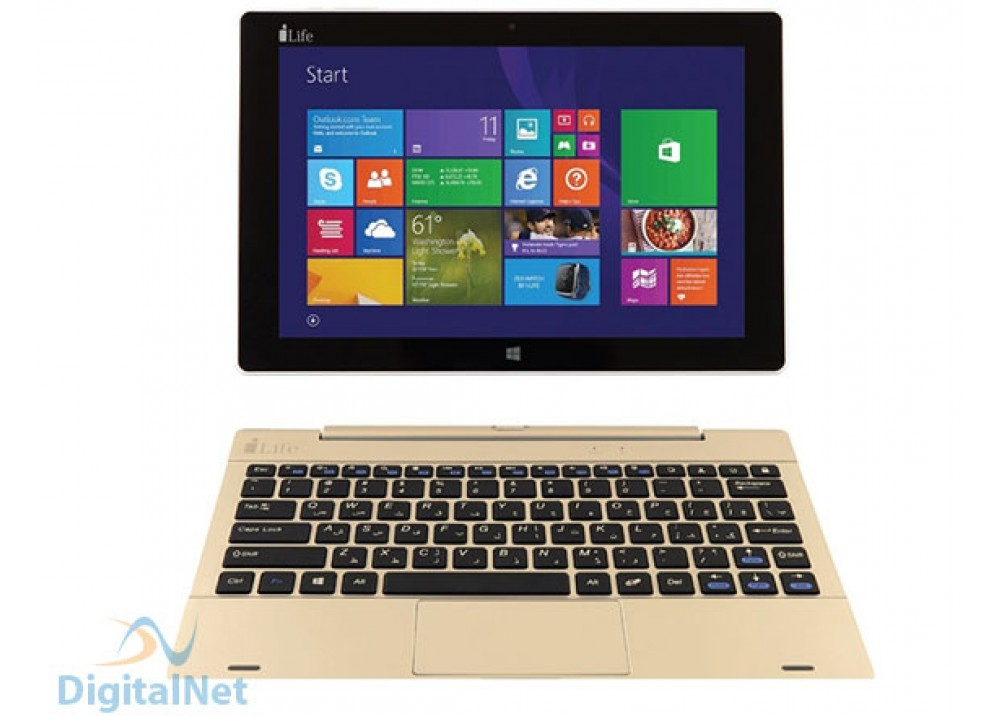 "I-LIFE ZED BOOK QC1.33 2GB  32GB 10.1"" TOUCH WITH KEB DOCK GOLD"
