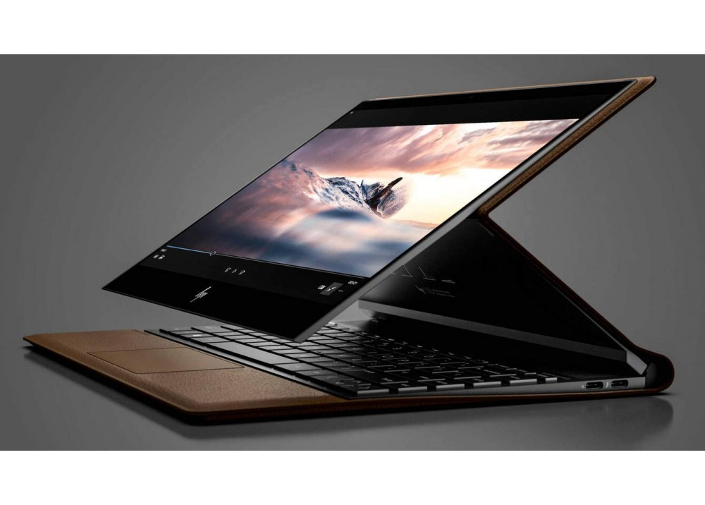"HP LAPTOP SPECTRE X360 FOLIO I7-8500Y 8GB 256GB SSD 13.3"" FHD TOUCH WIN 10 BROWN & BLACK WITH PEN"