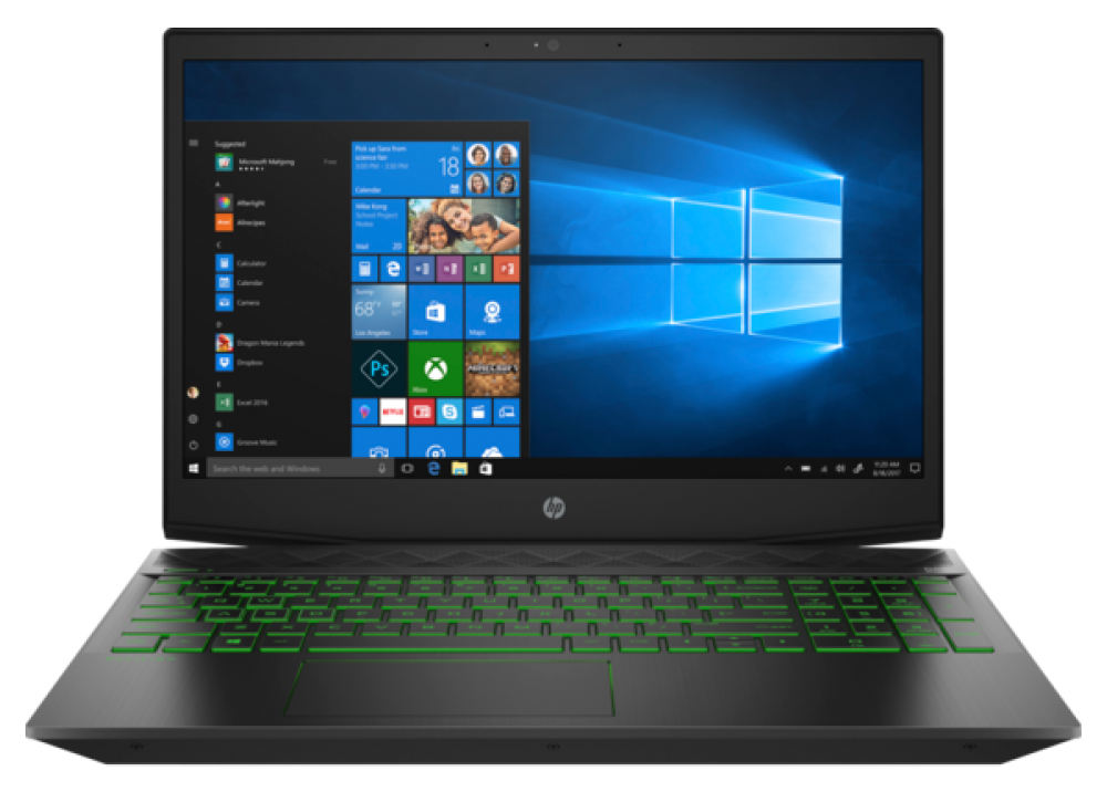 "HP GAMING PAVILION 15-CX0077 I7-8750H 8GB 1TB 3GB VGA 15.6"" FHD WIN10 BLACK"