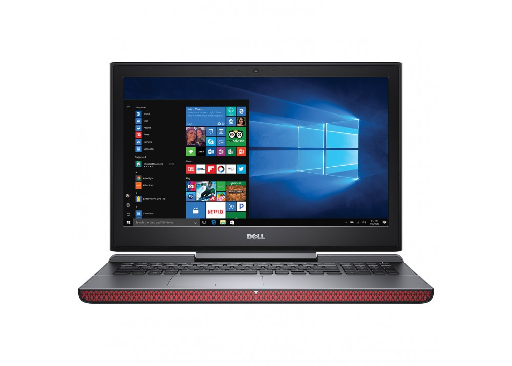 "DELL 7567‐ INS I7‐7700HQ 16GB 1TB+ 128SSD  4GB VGA  15.6"" FULL HD WIN 10 BLACK RED"