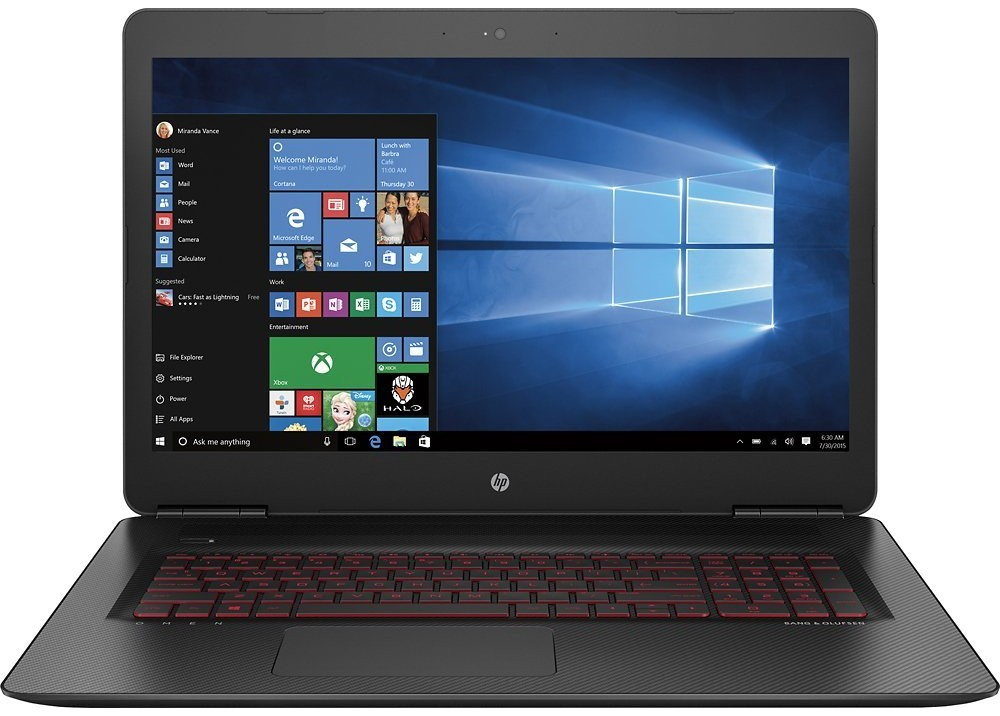 "HP OMEN 15 - AN002NE i7-7700HQ 12GB 1TB + 256SSD 4D VGA 17.3"" WIN10 BLACK"