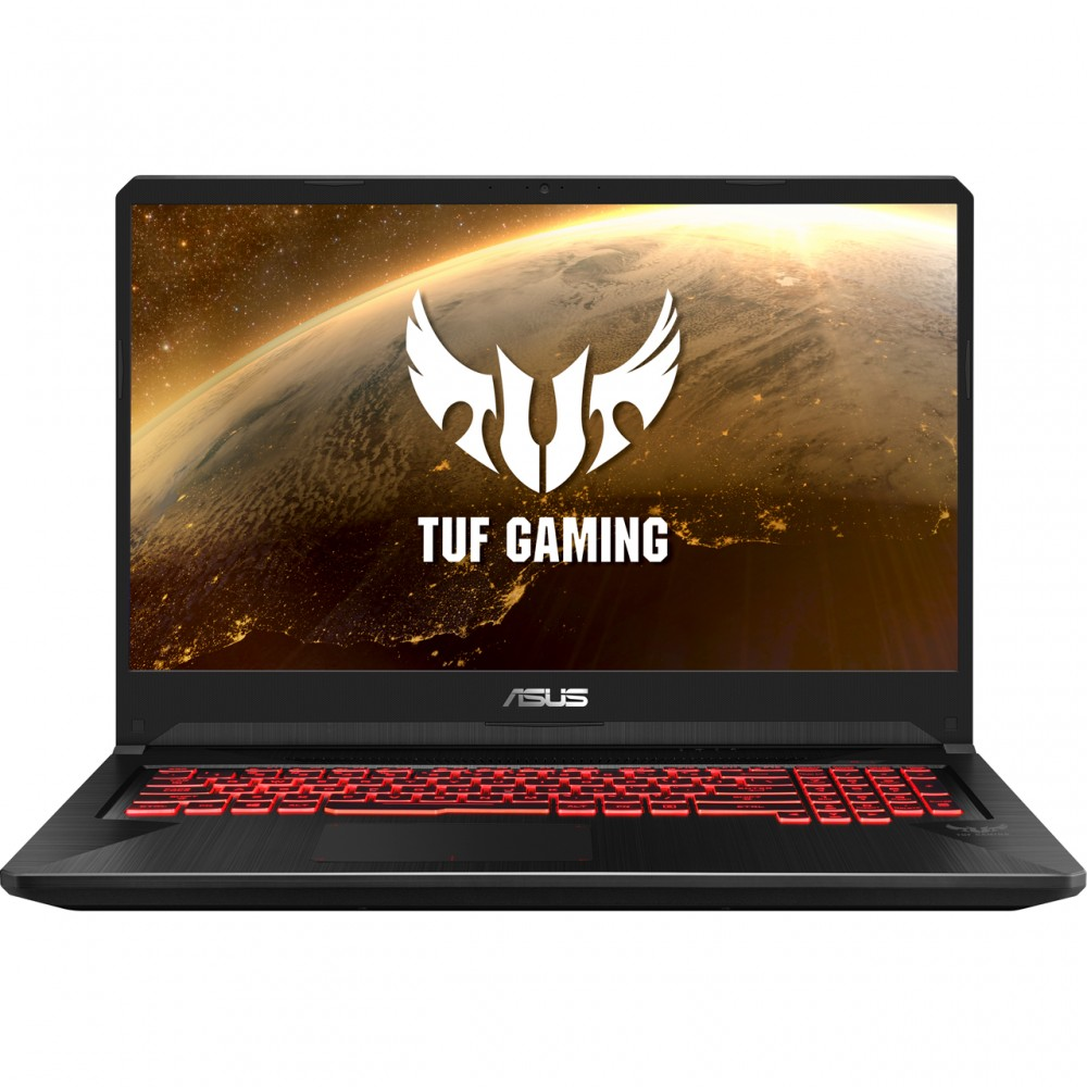 """ASUS GAMING LAPTOP FX705GE I7-8750H 16GB 1TB+256GB SSD 4D VGA 17.3"""" FHD BLACK WITH MOUSE & BAG"""