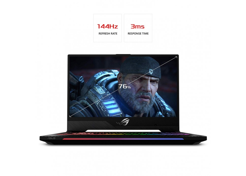 """ASUS GAMING LAPTOP ROG SCAR II GL504GW I7-8750H 32GB 1TB 256GB SSD 8D 15.6"""" FHD BLACK WITH MOUSE & BAG"""