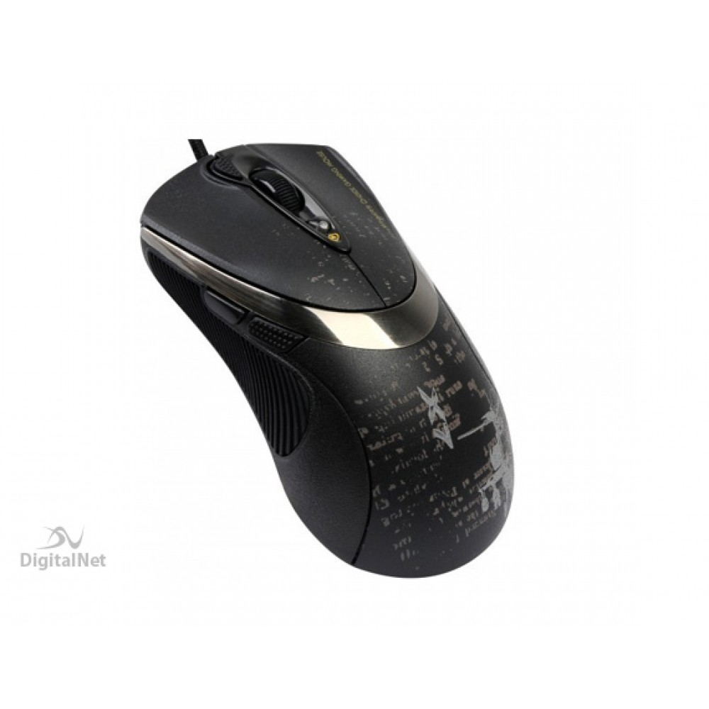 A4 TECH WIRED MOUSE GAMING F4 V-TRACK BLACK GRAY