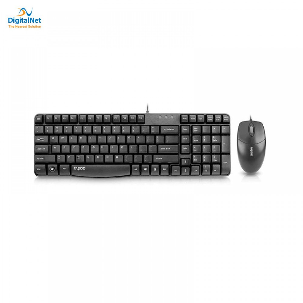 RAPOO COMBO WIRED KEYBOARD AND MOUSE X120 BLACK