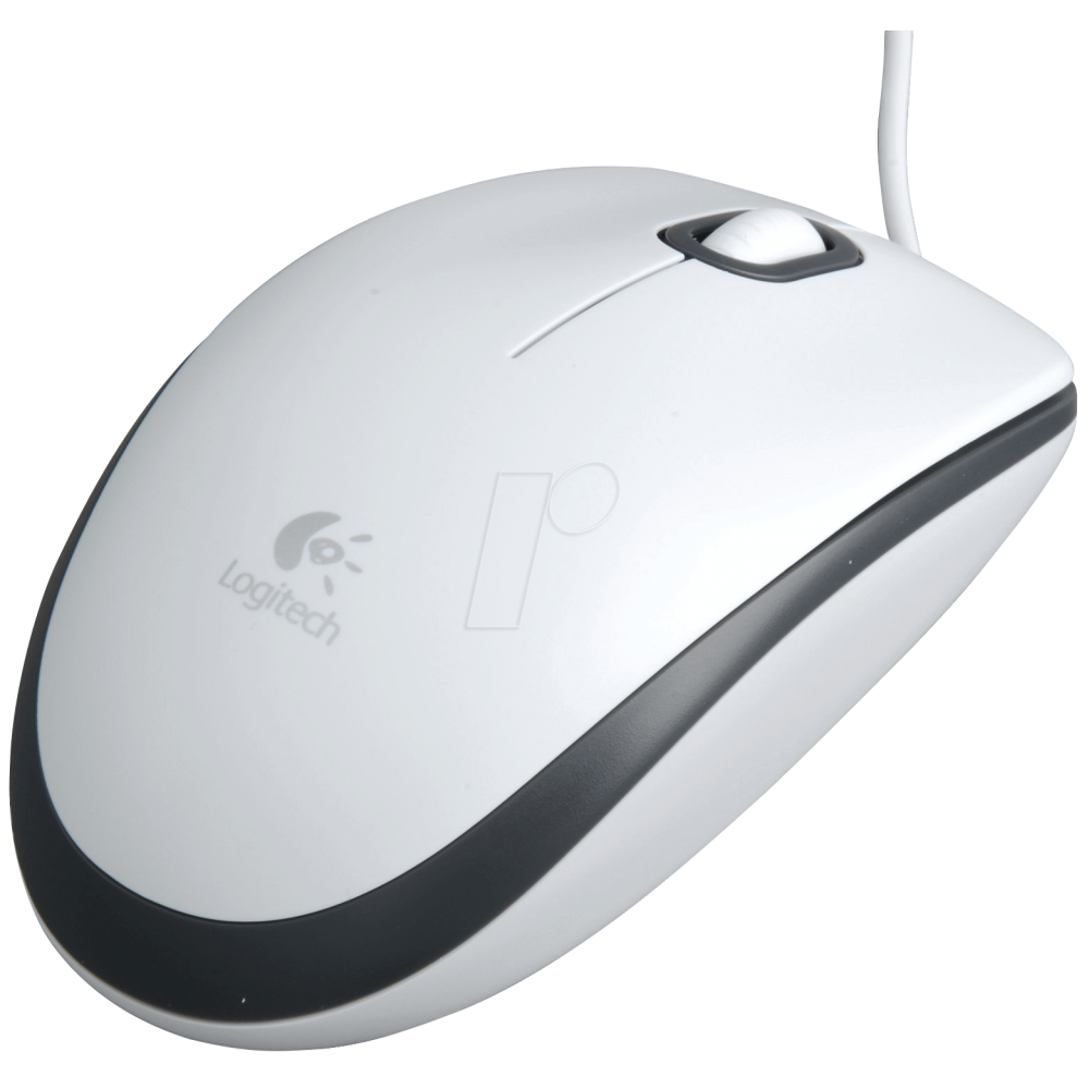 LOGITECH WIRED MOUSE M100 WHITE