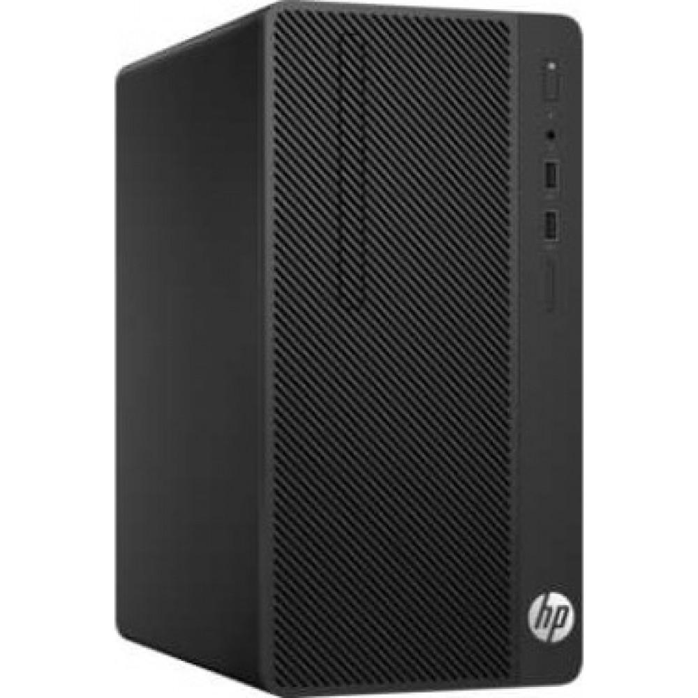 "HP DESKTOP COMPUTER 290 G1 I3-7100 4GB 500GB WITH HP MONITOR LED V197 18.5"" HD BLACK"