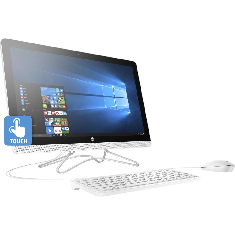"""HP ALL IN ONE DESKTOP 24-E000NE I5-7200U 8G 1TB 2D VGA 23.8"""" TOUCH WIN 10 WHITE"""