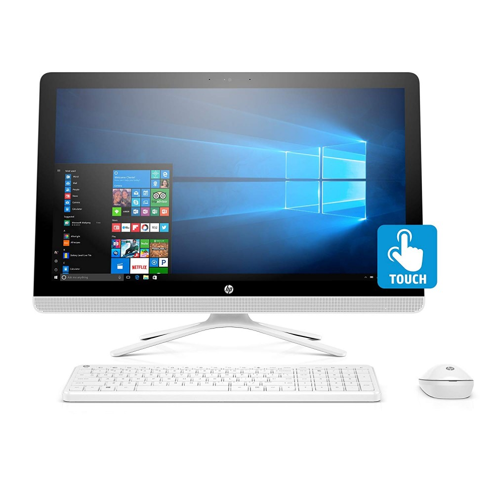 "HP ALL IN ONE DESKTOP 22-B313NE I3-7100U 8G 1TB 2D VGA 21.5"" TOUCH WHITE"