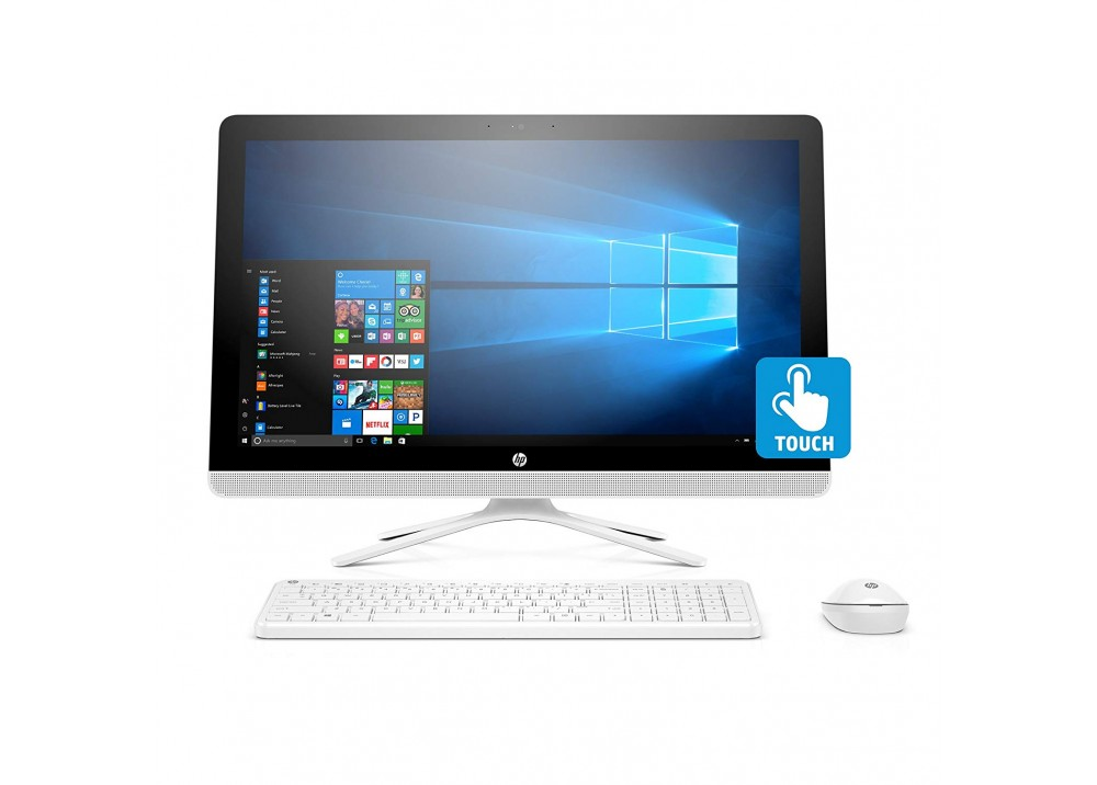 "HP ALL IN ONE DESKTOP 22-B313NE I3-7100U 8G 1TB 2D VGA 21.5"" TOUCH WHITE"