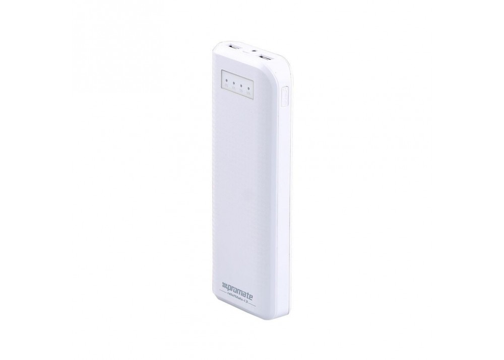 PROMATE POWER BANK PORTABLE CHARGER RELIEFMATE-13.WHITE