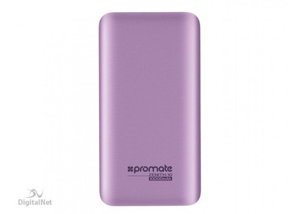 PROMATE POWER BANK PORTABLE CHARGER ZENITH 10000 MAH SILVER