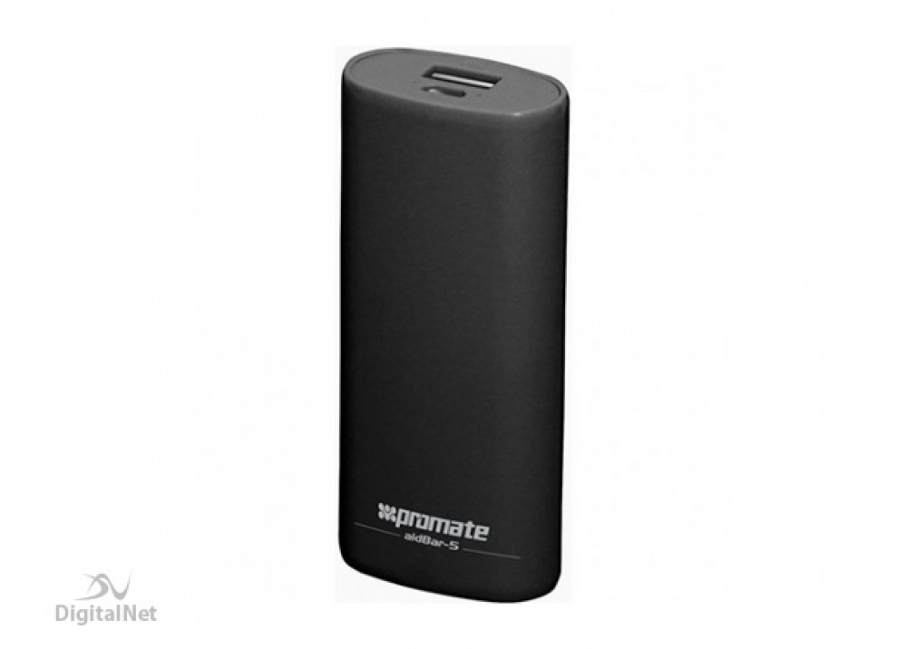 PROMATE POWER BANK PORTABLE CHARGER  AIDBAR-5 5200MAH BLACK