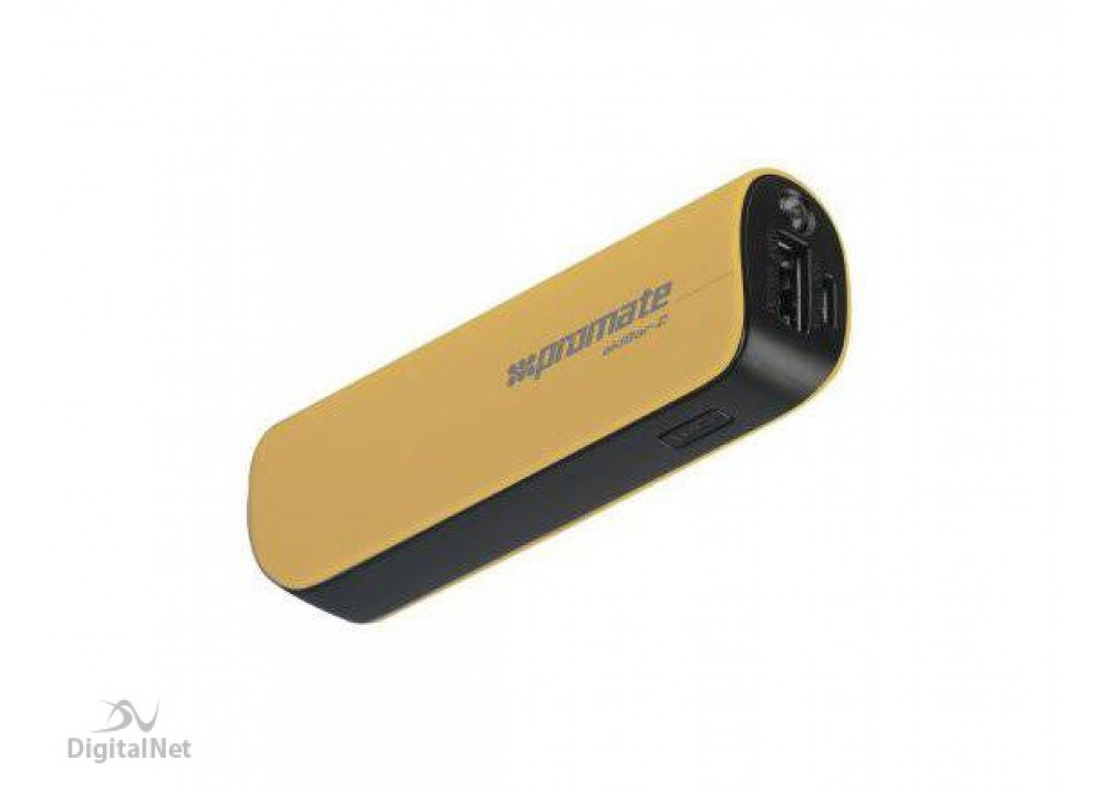 PROMATE POWER BANK PORTABLE CHARGER  AIDBAR-2 2500MAH GOLD