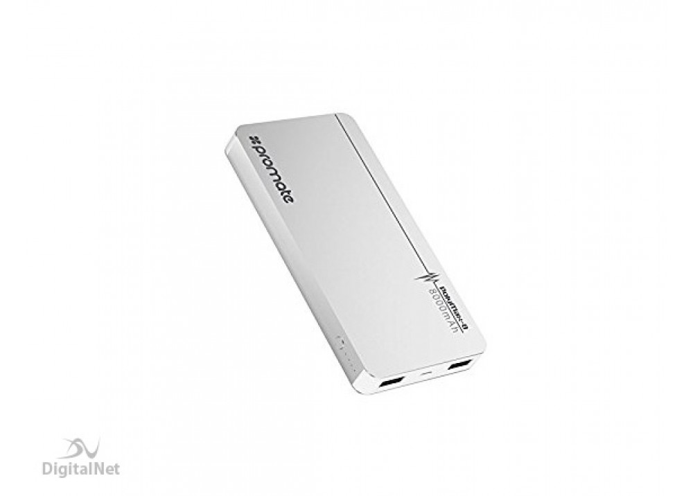 PROMATE POWER BANK  PolyMax-8  8000mAh  SILVER