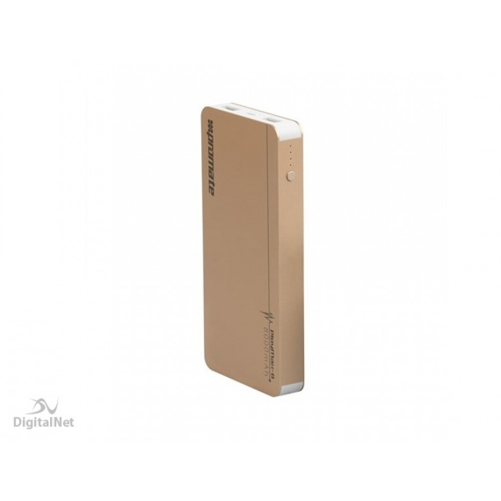 PROMATE POWER BANK  PolyMax-8  8000mAh GOLD