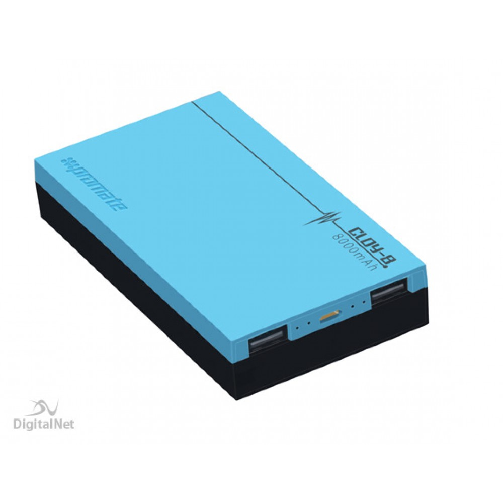 PROMATE POWER BANK PORTABLE CHARGER   CLOY12 12000 MAH BLUE