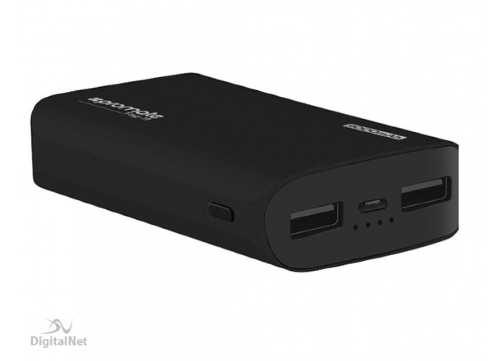 PROMATE POWER BANK PORTABLE CHARGER ALUMINIUM TAG-9 9000 MAH BLACK