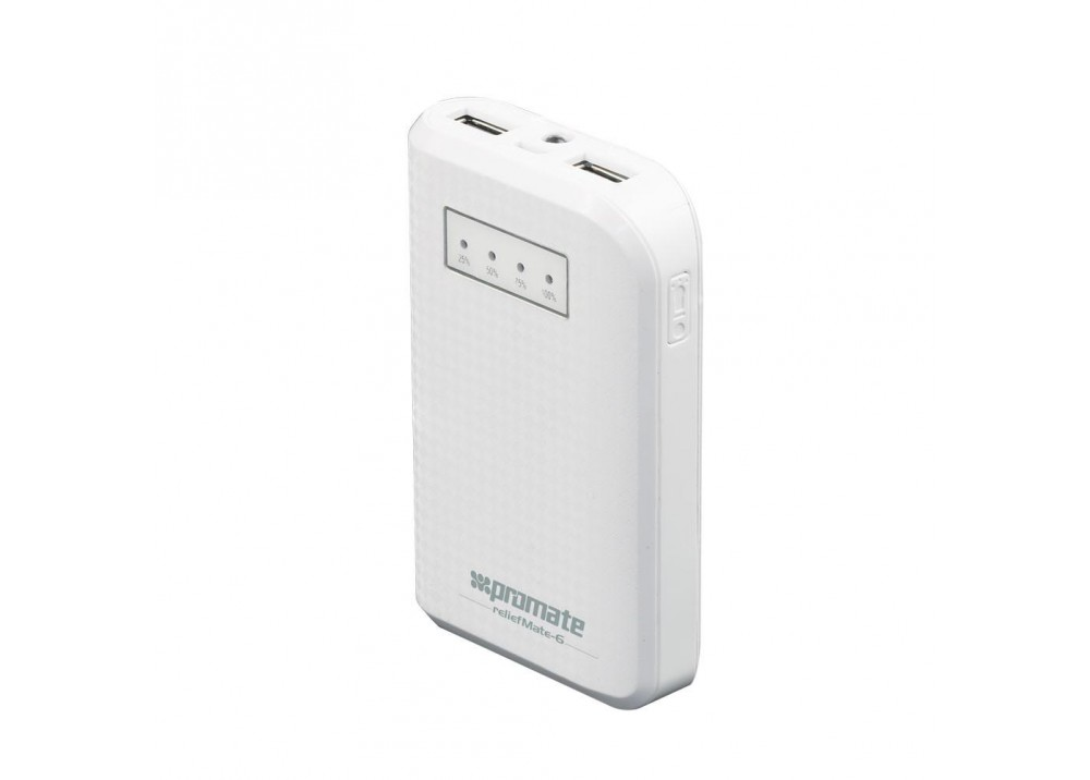 PROMATE POWER BANK PORTABLE CHARGER RELIEFMATE‐6.WHITE