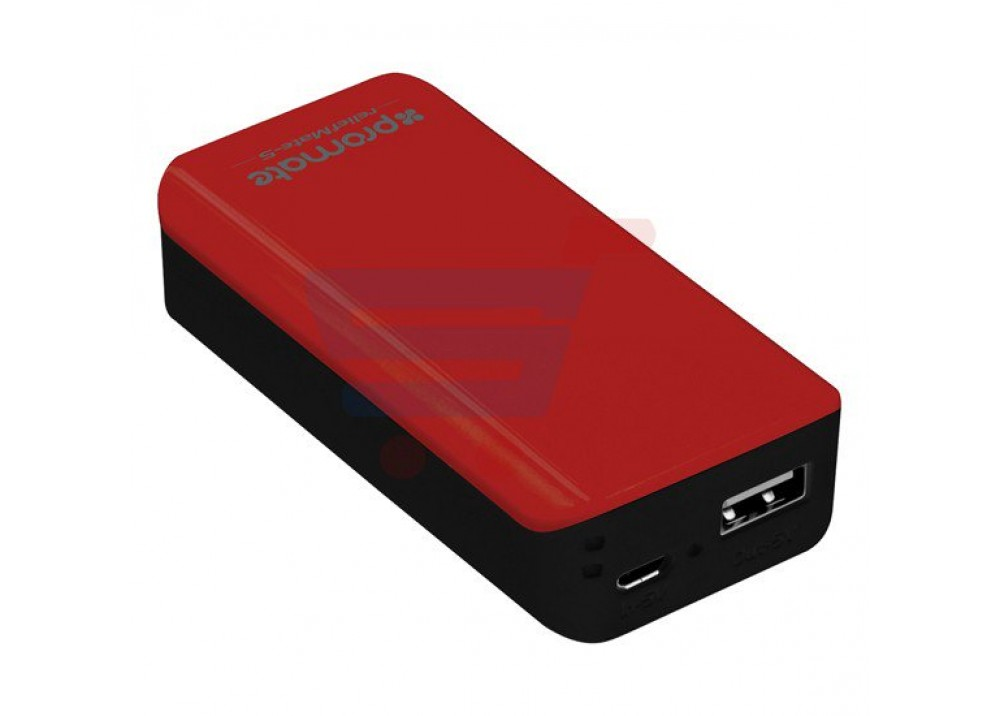 PROMATE POWER BANK PORTABLE CHARGER RELIEFMATE‐5.MAROON BLACK