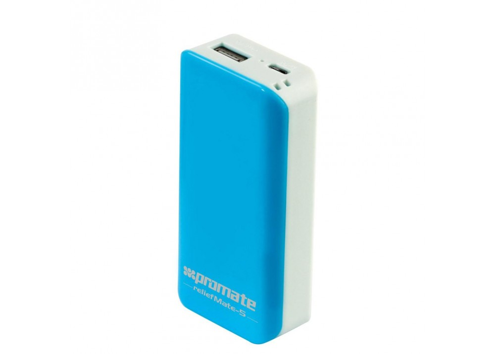 PROMATE POWER BANK PORTABLE CHARGER RELIEFMATE‐5.BLUE WHITE