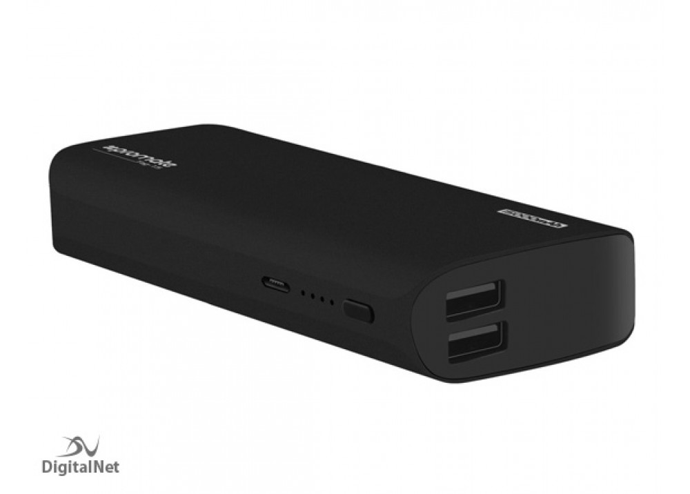 PROMATE POWER BANK PORTABLE CHARGER TAG-15 15000 MAH BLACK