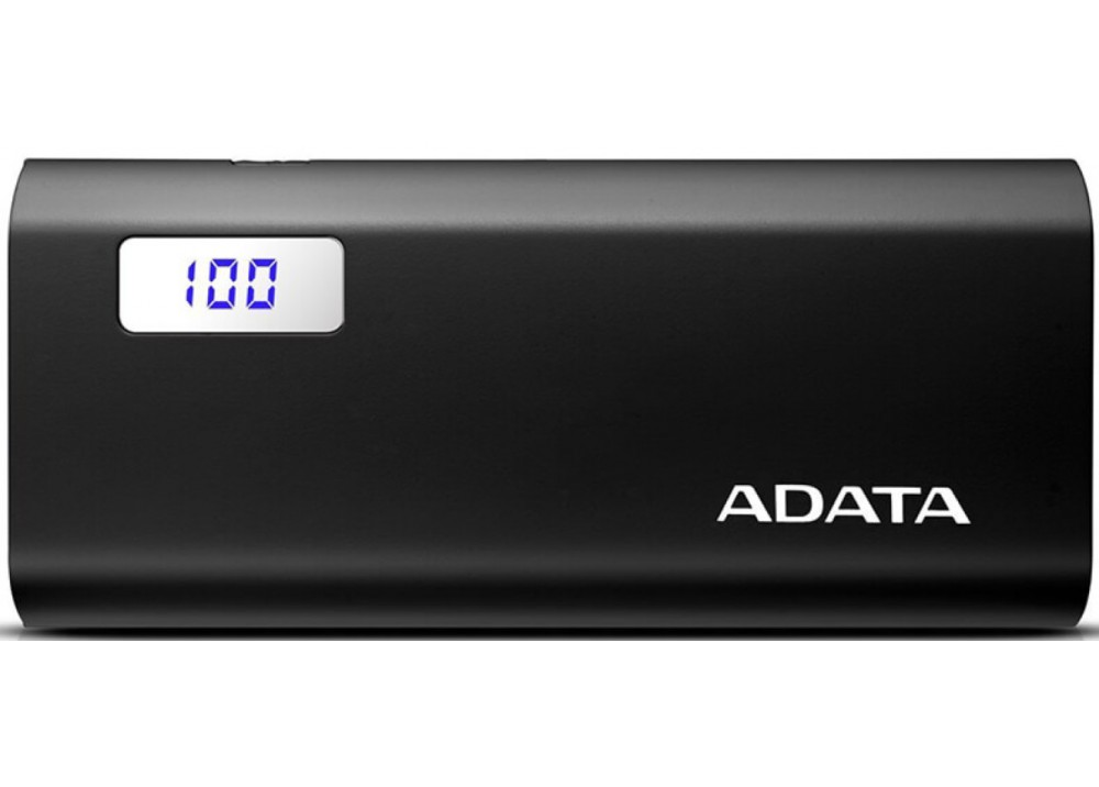 A-DATA POWER BANK PORTABLE CHARGER P12500 MAH BLACK