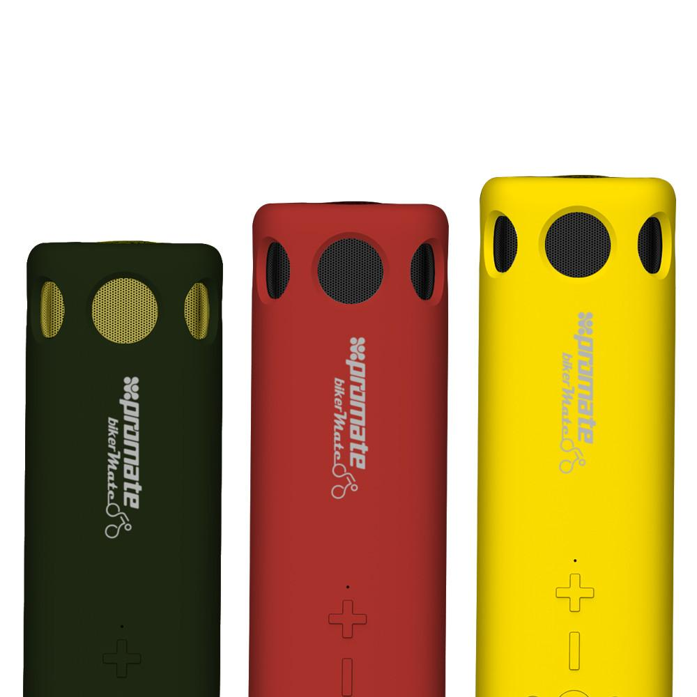 PROMATE  BIKERMATE WIRELESS SPEAKER WITH POWER BANK .RED