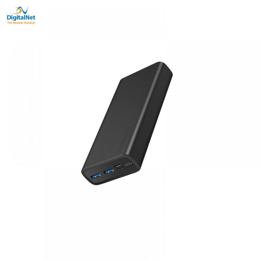 PROMATE POWER BANK BOLT- 20 SMART DUAL USB BLACK