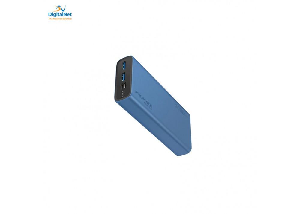 PROMATE POWER BANK SMART DUAL USB BLUE
