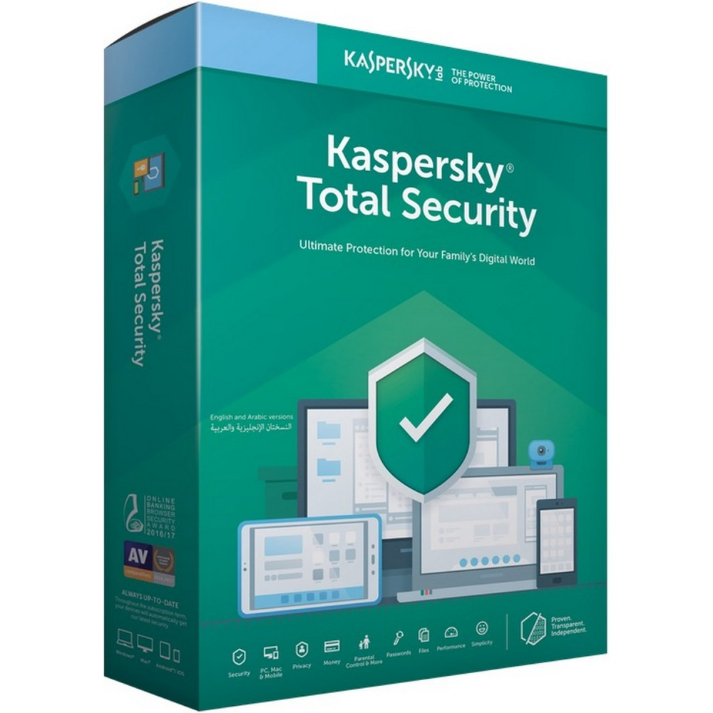 KASPERSKY TOTAL SECURITY 1 USER 2019