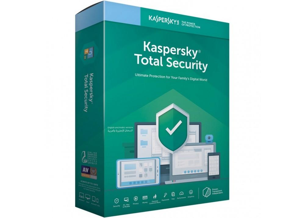 KASPERSKY TOTAL SECURITY 1 USER 2019